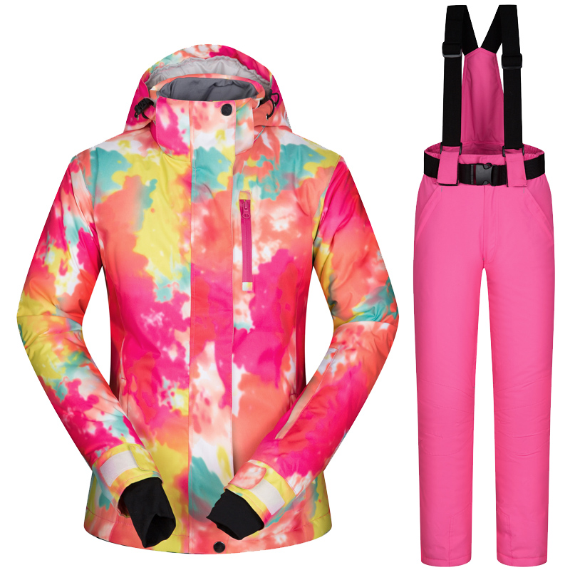 Women's Ski Jacket And Pant Winter Outdoor Jacket Snowboard Ski Coat Women Snow Wear ski Suit Windproof Waterproof Breathable 2017 new women snow ski suit windproof waterproof breathable women s snowboard colorful clothes winter ski jacket and pants