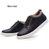 WOODTREE Men Shoes 2018 Top Fashion New Winter Front Lace Up Casual Ankle Boots Autumn Shoes