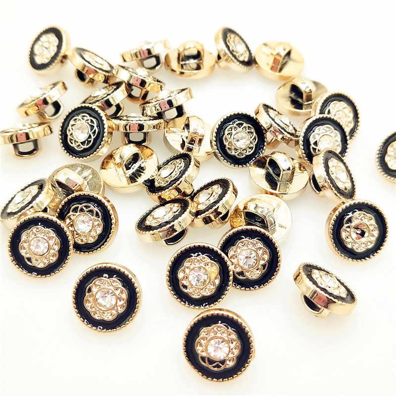 1/10/30 stks/partij hoogwaardige imitatie edelsteen bloem knoppen, 12mm naaien knoppen voor shirt, kristal knoppen voor kleding