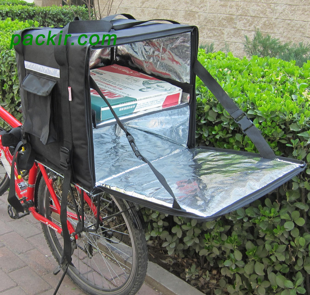 Pk 92z Food Delivery Bag For Scooter With Divider 16 Inch Pizza
