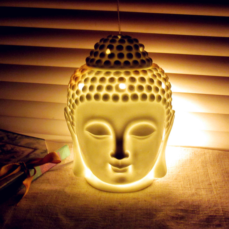 Online Shop After the black white ceramic buddha lamp small night ...