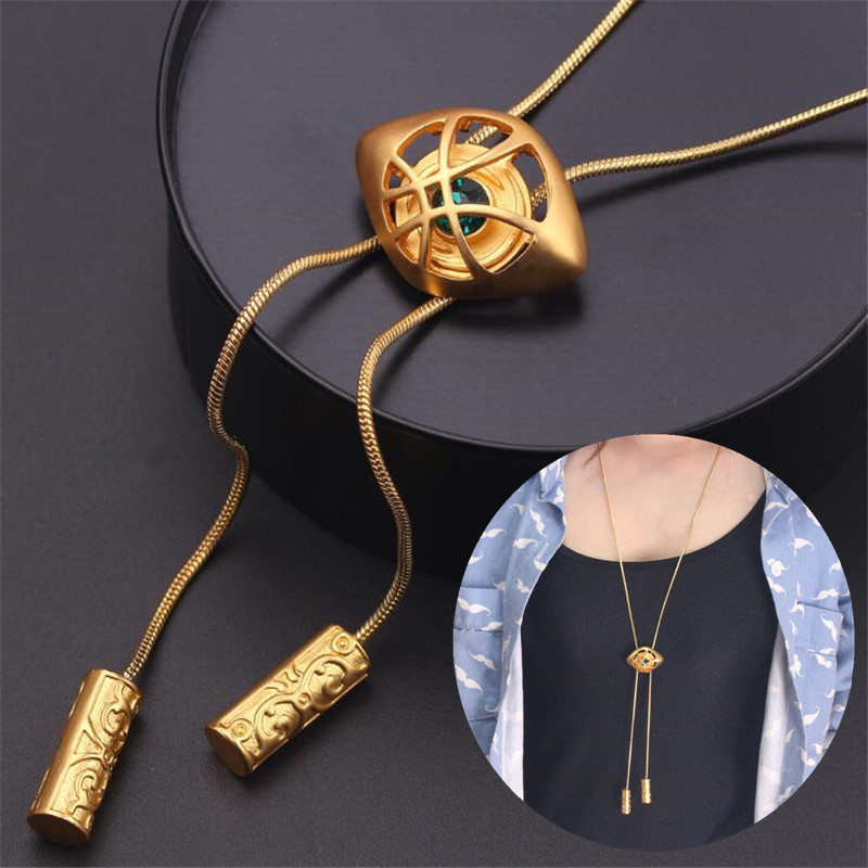 Hot New Movie Doctor Strange Necklace Cosplay Accessories Badge Same Style Eye Of Agamotto Pendant Funny Fnacy Boy Gift Gift