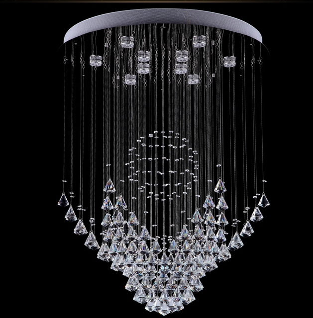 wireless art lighting. Art Deco Remote Control LED Crystal Ceiling Lights Staircase Lighting Fixture For Dining Room Bedroom Restaurant Wireless