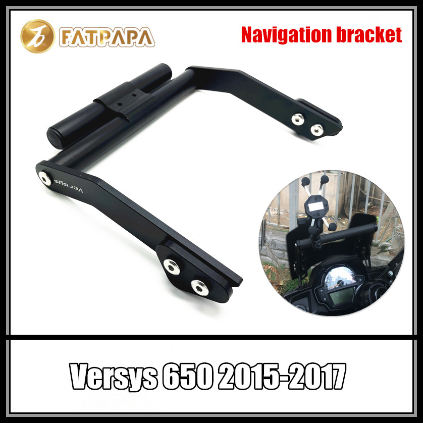 Motorcycle accessories modified navigation bracket Fit For Kawasaki VERSYS650 KLE650 2015 2016 2017