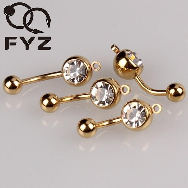 Mixeds 3 גודל אנכי חישוק להוסיף משלך קסם בטן טבעת זהב צבעים טבור טבעת פירסינג תכשיטים