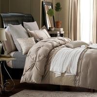 シルクシーツ高級寝具セットデザイナーベッドカバークイーンサイズキルト羽毛布団カバー綿ベッドリネンフルキング