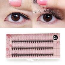 60Pcs/Lot False Eyelashes For Women Individual Eyelashes Extensions Faux Cils Natural Long Handmade Fake Eye Lashes Makeup Tool
