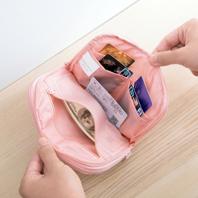 Fashion Mini Passport Wallet Data Line Bank Card Multifunctional Portable Power Pack Travel Accessories Supplies Products