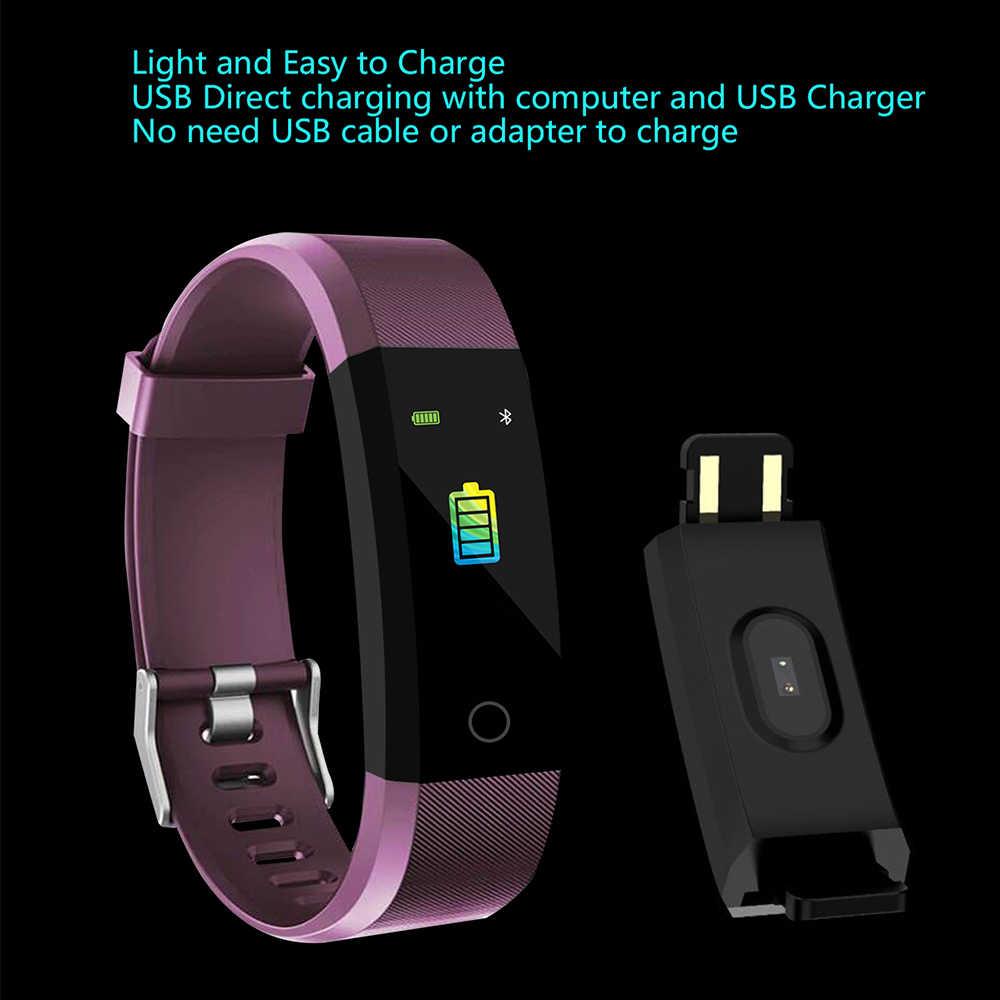 Nuevo reloj inteligente de las mujeres de los hombres Monitor de ritmo cardíaco rastreador de fitness de presión arterial inteligente deporte reloj notificador para ios android