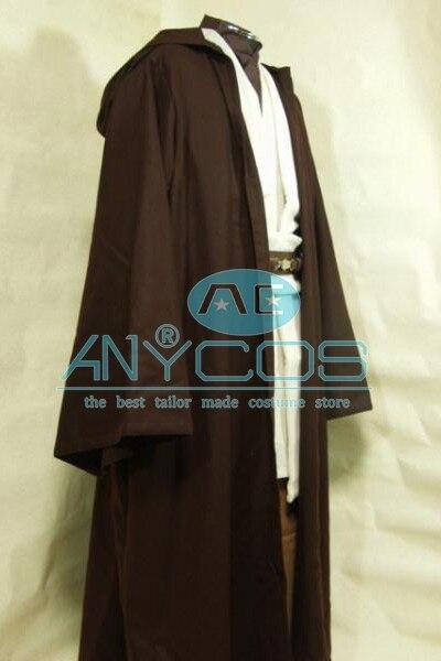 Star Wars Kenobi Jedi Tunic Brown Brown Cloak Robe Movie Halloween - Կարնավալային հագուստները - Լուսանկար 2