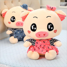 Hot Sale Lovers Pig Wearing Clothe Plush Toy Stuffed Animal Soft Plush Doll Children Birthday or New Year Gift стоимость
