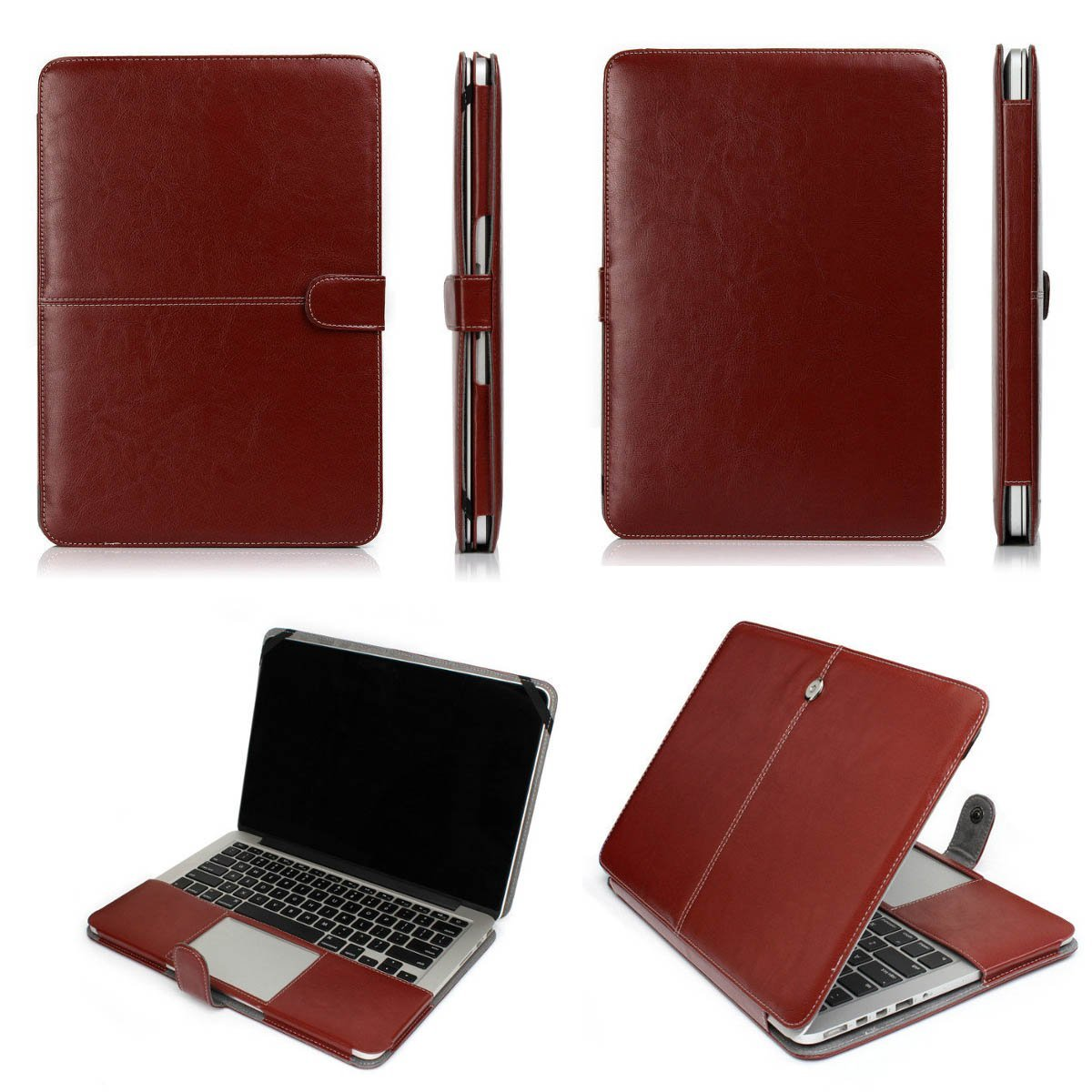 Laptop Bag Case for Macbook Air 11 13 Pro 13 15 PU Leather Sleeve Laptop bag Case for Macbook Air 12 13 Pro 13 15 Bag Case