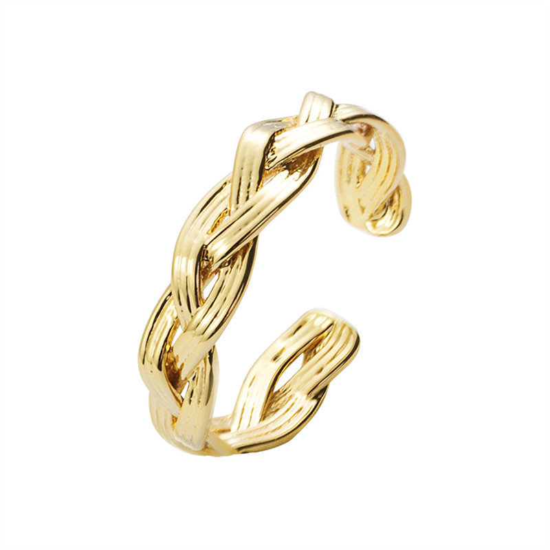 b97e22d18 10pcs/1lot New Fashion Gold Silver Color Vintage Ring Couple Lover Midi  Weave Rings for Women