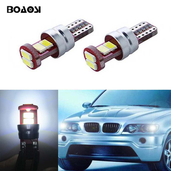 BOAOSI 2x T10 W5W Parking Lights Sidelight No Error For BMW E46 E39 E91 E92 E93 E28 E61 F11 E63 E64 E84 E83 F25 E70 E53 E71 E60 image