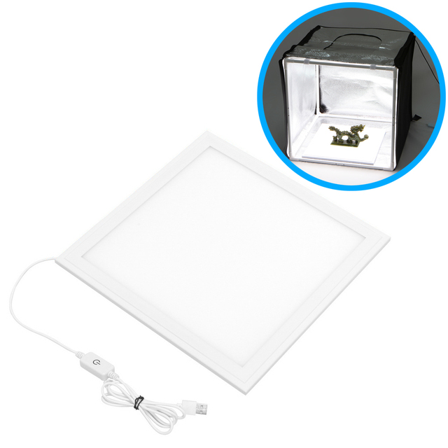 30x30cm dimmable bottom led light panel for tabletop home studio shadowfree pure white background