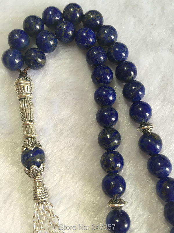 Natural 33 Afghanistan Lapis Lazuli Semi-precious Stone kehribar tesbih Prayer beads Islamic Muslim Tasbih Allah natural purple aaa amethyst crystal 33 beads prayer beads islamic muslim tasbih allah rosary free shipping