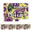 Rondaful colorful Micro SD Card 32GB Class 10 8GB-128GB Class10 UHS-1 64GB/128GB Memory Card Flash Memory Microsd for Smartphone