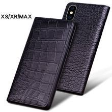 Luxury Genuine Crocodile Leather Phone Cases for IPhone XS XS MAX Case Fashion Phone Bags for IPhone XR Case