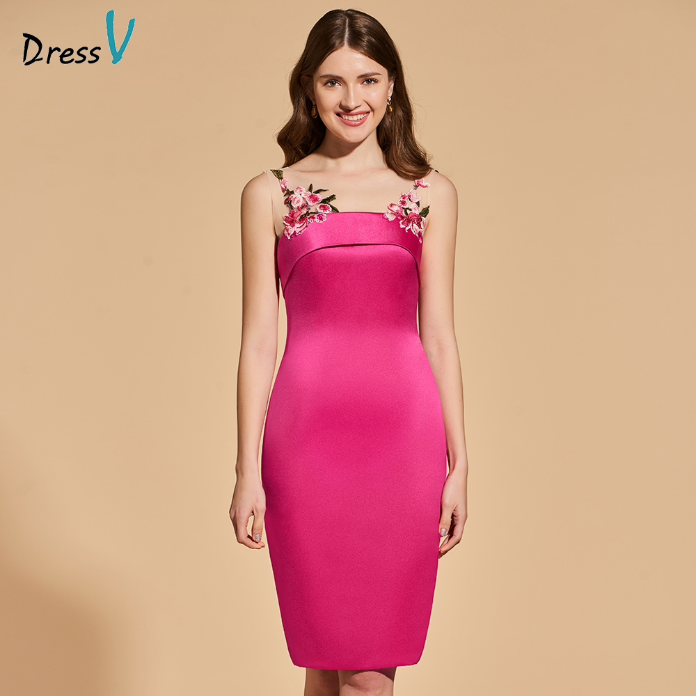 Dressv   cocktail     dress   elegant scoop neck knee length sheath beading wedding party formal   dress   lace   cocktail     dresses