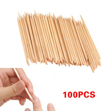 100 Pcs/Set Nail Art Wood Sticks Cleaning Nail Polish Cuticle Pusher Remover Manicure Tools Nails Care Stick For Women  H7JP