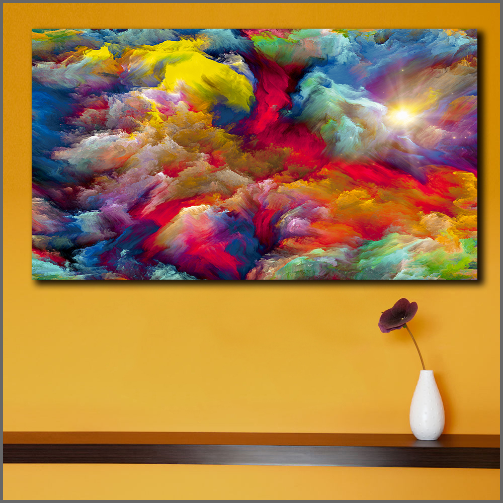 Us 9 17 47 Off Fashion Painting Abstract Art Canvas Wall Art Happy Home On Canvas Original Art Landscape Art Abstract Painting Printed In