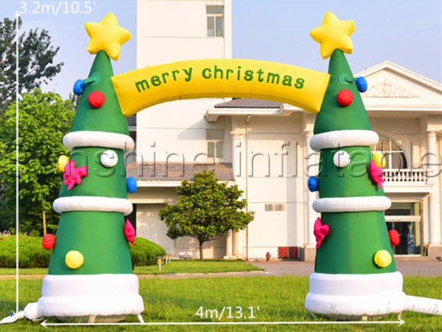4mw outdoor decoration christmas inflatable archinflatable christmas tree archway blower included cheap on sale - Cheap Inflatable Christmas Decorations