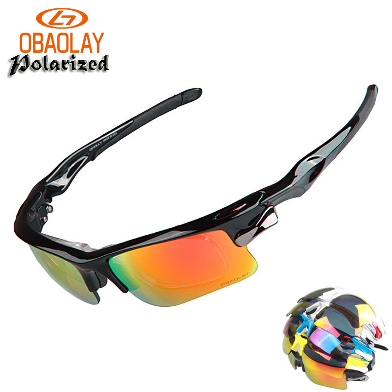 OBAOLAY Brand Polarized Cycling Glasses Sunglasses Bicycle Glasses Bike Sunglasses Eyewear 3 Lens Outdoor Goggles UV Proof parzin brand high quality children sunglasses real polarized lens sun glasses ultra light frame cute round style eyewear d2001