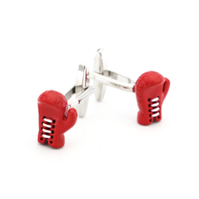 Men's Boxing Glove Cuff Links Copper Material Red Color