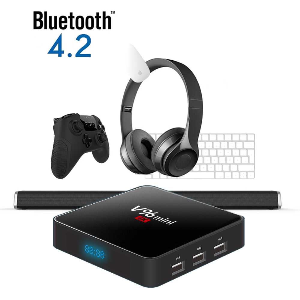 Vmade Original V96 Mini Android 7 1 OS Media Player Allwinner H3 H 265/HEVC  Support Bluetooth YouTube IPTV Android Smart TV Box