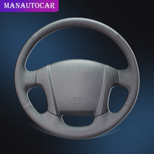 Car Braid On The Steering Wheel Cover for Kia Sportage 2 2005-2010 2009 Sportage Auto Covers Car-styling Interior Accessories floor mats for kia sportage 2006 2010 rugs non slip polyurethane dirt protection interior car styling accessories