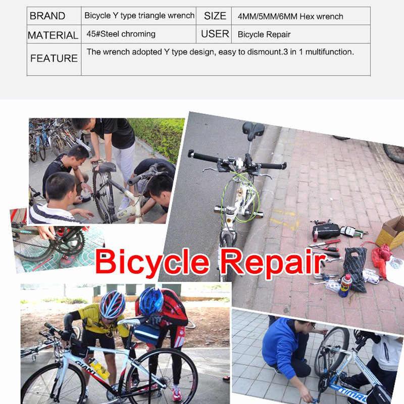 ROCKBROS vélo vélo outils clé à rayons multifonction Triangle clé outils 4MM 5MM 6MM 3 en 1 vélo main outils de réparation portables