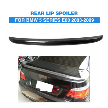 Carbon Fiber / PU Rear Spoiler Trunk Boot Lip Wing Sticker for BMW 5 Series E60 Sedan 2005 - 2007 Car Styling image