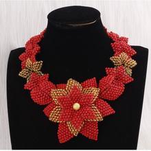 Комплект из ожерелья и подвески в африканском стиле 4 шт