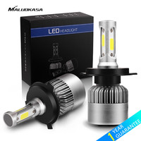 MALUOKASA 2PCs 8000LM Car Headlight S2 H1 H4 H7 LED 72W H8 H9 H11 9005 HB3
