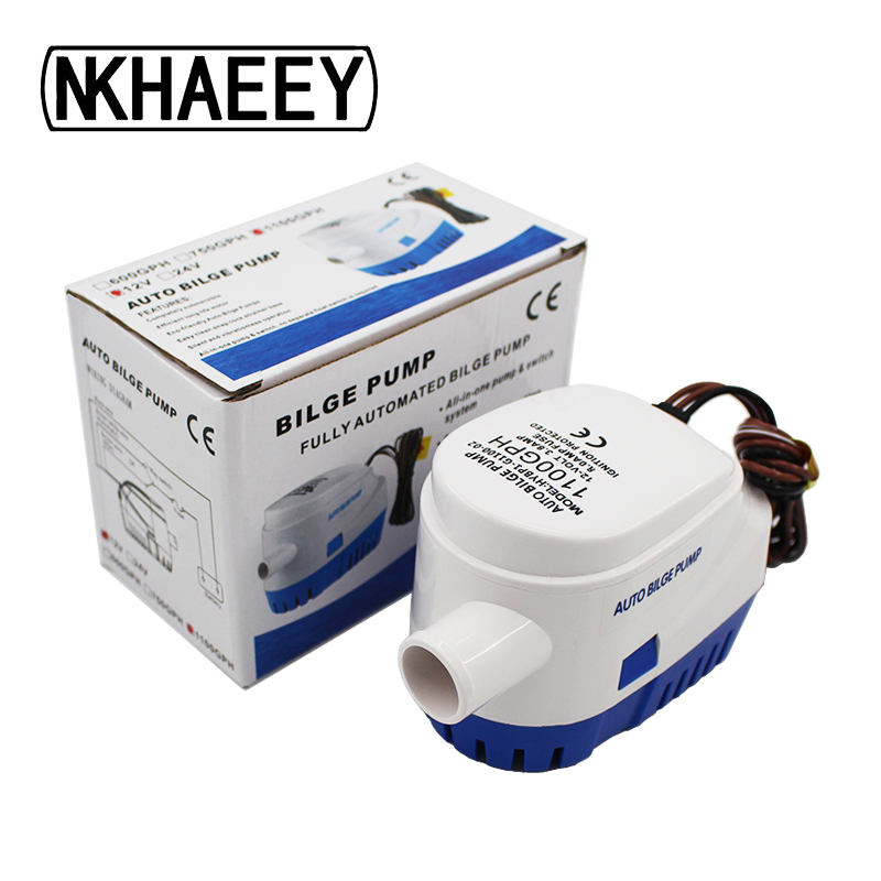 Fully Auto Bilge Pump 600GPH DC 12V 24V Electric Water Pump For Aquario Submersible Seaplane Motor Homes Houseboat in Pumps from Home Improvement