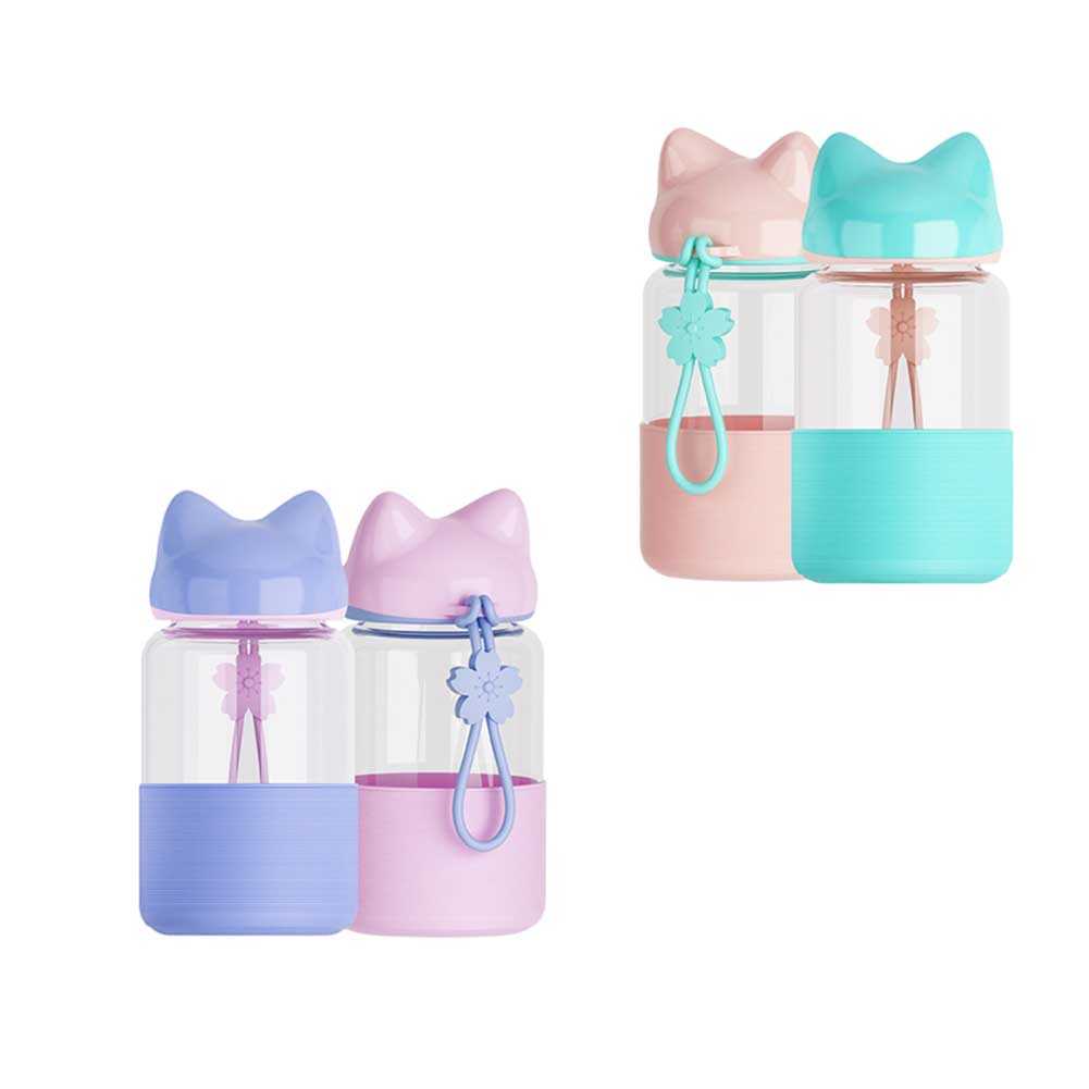 Water Bottle Quarter Prank: Candy Colors Water Bottle Silicone Drinking Water For