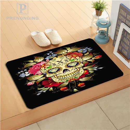 Custom Skull Colorful Doormat Print slip-resistant Mats Floor Bedroom Living Room Rugs 40x60cm 50x80cm Free Shipping 171128-07