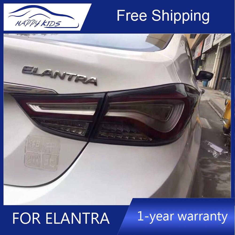 Car styling Tail Lights For Hyundai Elantra 2012 2016 Led Running Tail Lights Fog lamp Rear
