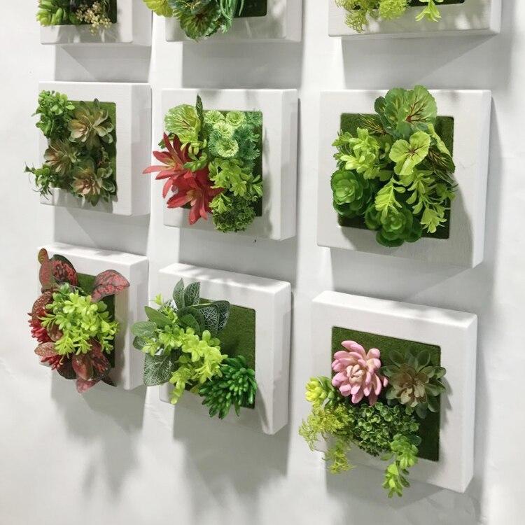 20*20 cm plantas suculentas artificiales plástico helechos hierba ...
