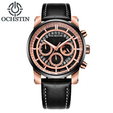 Men Watches OCHSTIN Top Brand Luxury Casual Military Quartz Sports Wristwatch Leather Strap Male Clock Waterproof Montre Homme oulm 3364 casual wristwatch square dial wide strap men s quartz watch luxury brand male clock super big men watches montre homme