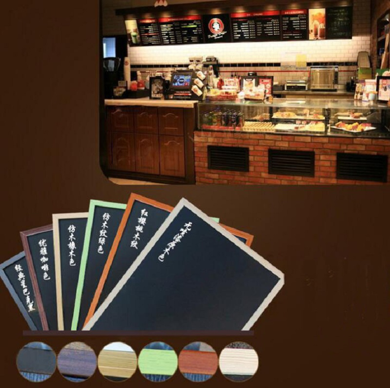 2019 Newest Retro Creative Magnetic Blackboard Wooden Double-sided Hanging Restaurant Menu Price List Blackboard 40/50/60cm