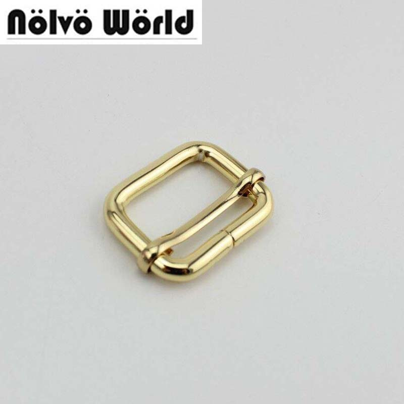 50pcs Non Welded 26X20mm(1 Inch) Slider Buckle,DIY Belt Ribbon Roll Buckle Strap Adjuster Tri-glide Buckles