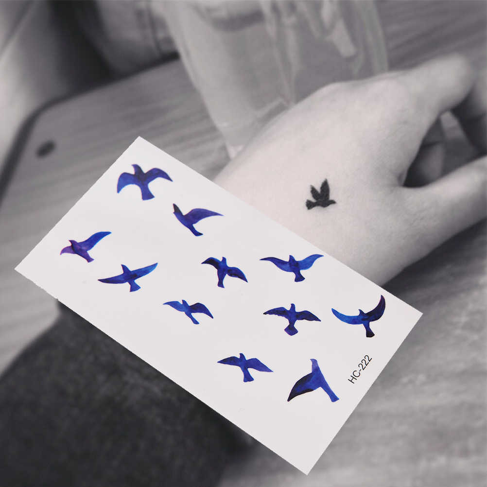 1 Sheet Women Sexy Finger Wrist Flash Fake Tattoo Stickers Liberty Small Birds Fly Waterproof Temporary Tattoos Sticker