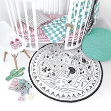 135CM INS Baby Infant Play Mats Kids Crawling Carpet Floor Rug Bedding Blanket Cotton Game Pad Children Room Decor