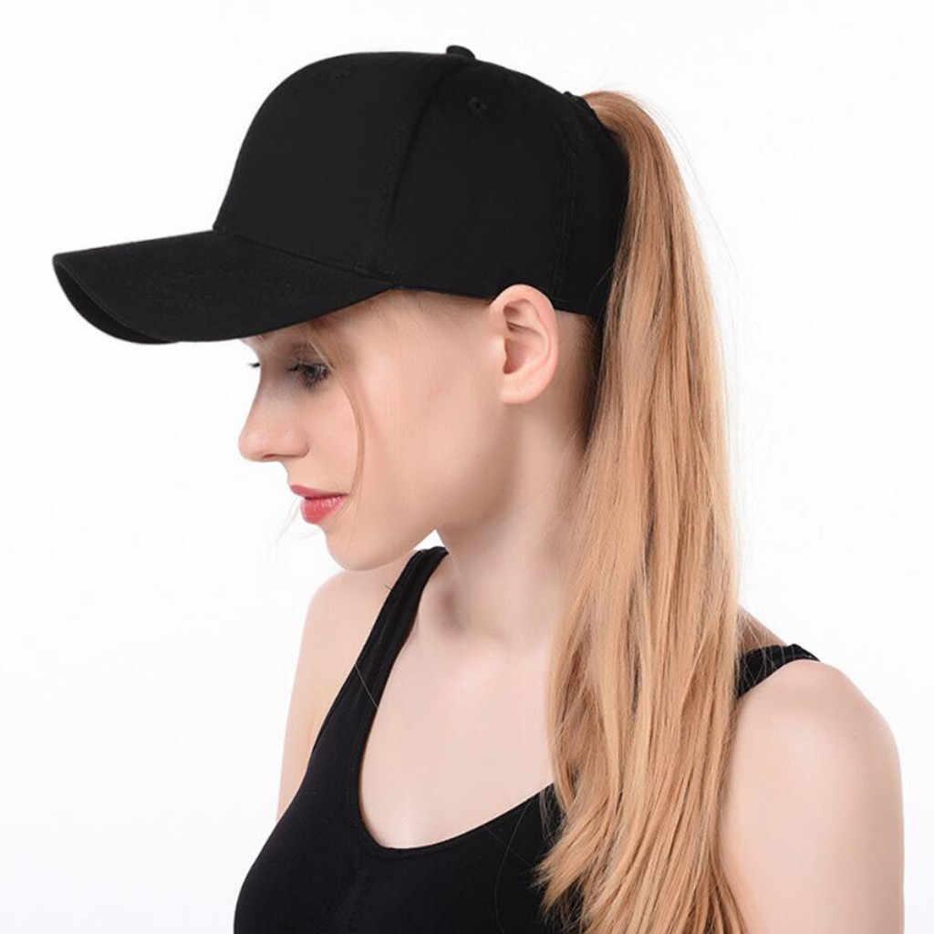 2aaf76bb71a Baseball Cap Ponytail Messy Buns Trucker Plain Baseball Visor Cap Dad Hat  Adjustable Cap Casual leisure