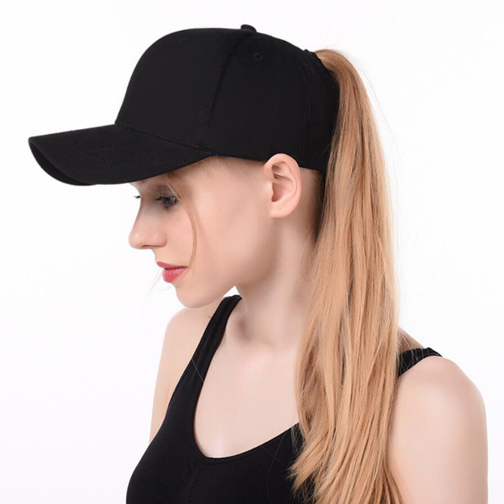 Baseball Cap Ponytail Messy Buns Trucker Plain Baseball Visor Cap Dad Hat Adjustable Cap Casual Leisure Hats Summer Fall Hat Attractive Designs;