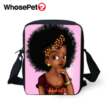 WHOSEPET African Girls Style Cross Body Messenger Bags Boys Shoulder Bag Cool School Fashion Women Mini Flap Postbag