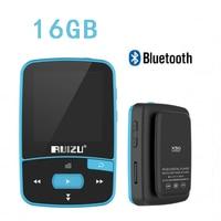 Mini Mp3 Player Ruizi X50 Bluetooth Music Mp 3 with Radio Sports Audio Digital Hi Fi Hi Fi Screen Fm Flac Usb 16Gb