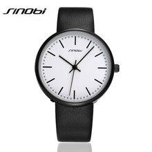 SINOBI 2016 Brand Quartz Watch Lovers Watches Women Men Dress Watches Genuine Leather Wristwatches Fashion Casual Watches AA160