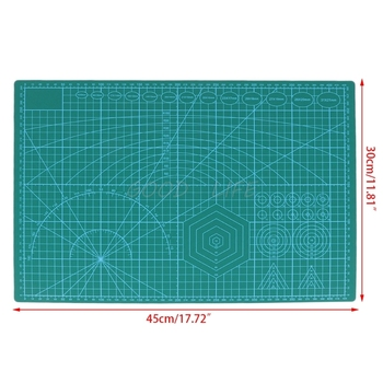 A3 Grid Lines Cutting Mat Craft Scale Plate Card Patchwork DIY Paper Board Sewing Tools a4 30 22cm sewing cutting mats plate design engraving cutting board mat handmade hand tools
